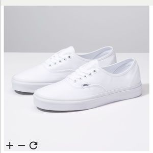 vans authentic skate shoe - all white